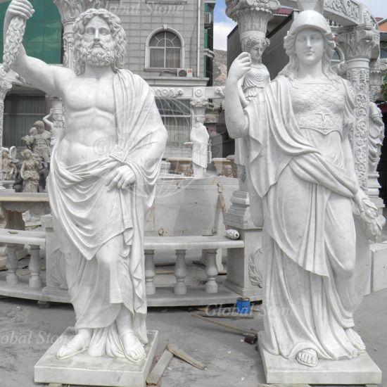 Stone Statue Greek Man Marble Sculpture for Garden Decoration
