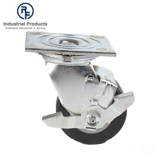 RF OEM Style Good Quality Lifting Heavy Duty Rubber Cargo Locking Wheel