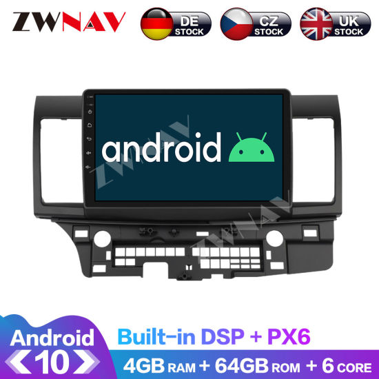 Px6 4GB+64GB Android 10.0 Car Multimedia Player for Mitsubishi Lancer 2012 GPS Navi Radio Navi Stereo IPS Touch Screen Head Unit