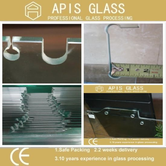 RoHS-Compliant Semi-Transparent Printing Tempered Glass with Obscure Effect pictures & photos