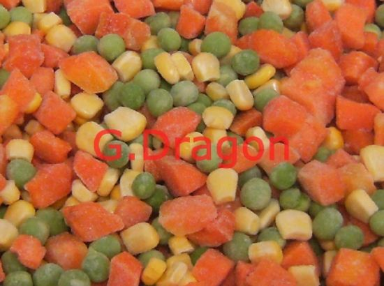 High Quality Low Profit IQF Mixed Vegetable with Corn, Carrots, Green Peas (IQF001)