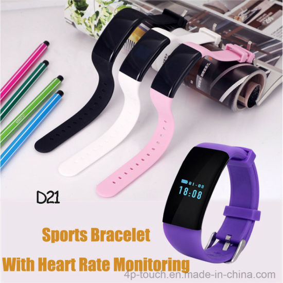 Newest Waterproof Bluetooth Smart Bracelet with Heart Rate Monitor (D21) pictures & photos