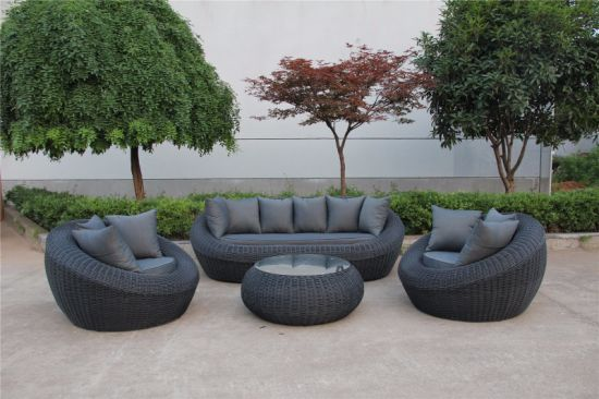China New Design Outdoor Furniture Sofa Set4PCS of Aluminium Rattan ...