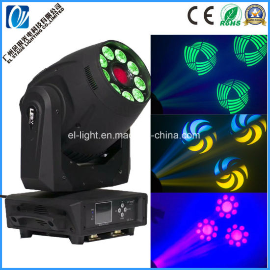 Newest Design Spotlights120W White +9*12W RGBW a UV 6in1 LED Moving Head Light (Spot+Wash) 2in1
