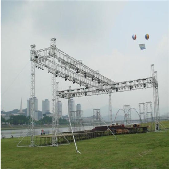 Spigot Exhibition Aluminium Lighting Stage Trade Show Glass Plywood Platform DJ Concert Truss pictures & photos