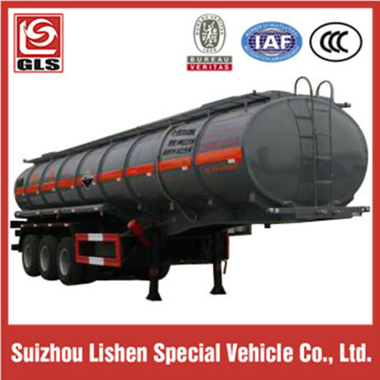 3-Axle 20000L Corrosive Chemical Liquid Tank Semi Trailer pictures & photos