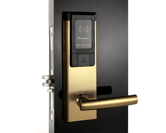 High Security Smart RF Card Electronic Hotel Door Handle Lock