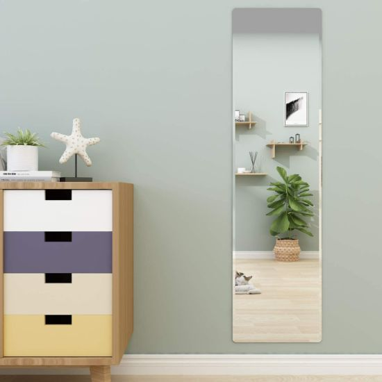 Contemporary Beveled Full Length, Lightweight Bathroom Mirror