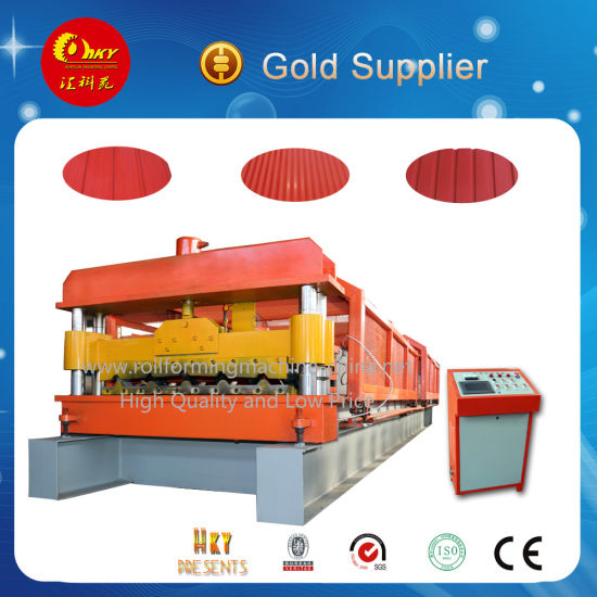 China Galvanized Roofing Roll Forming Machine Zinc Tile Making pictures & photos