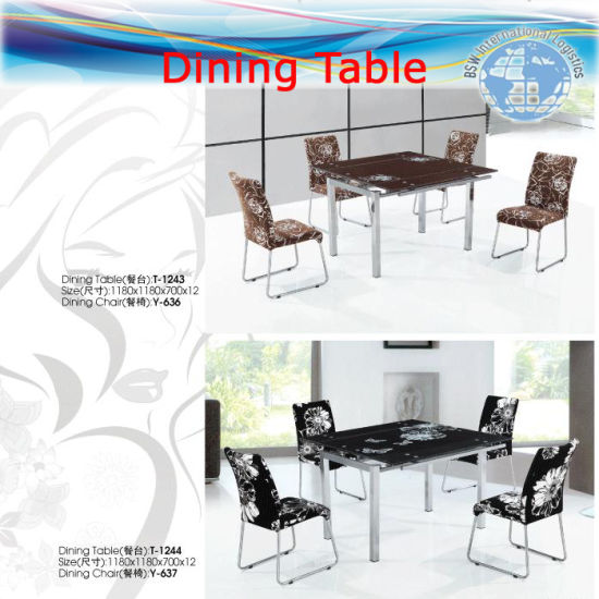 Ocean Shipping for Dining Tables, Glass Tables, Room Furniture