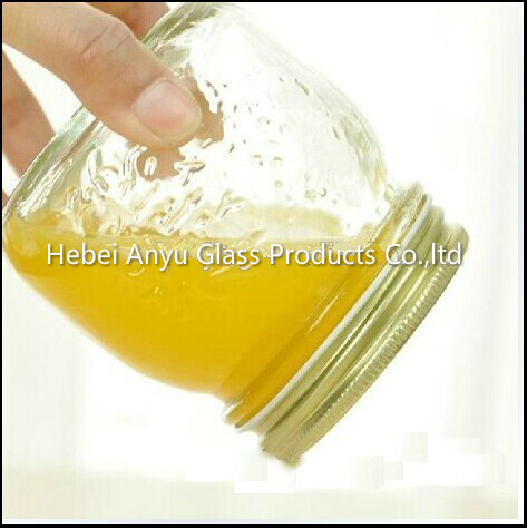 Wholesale 100ml Mini Empty Pudding Milk Glass Bottle Mason Jars with Plastic Cap pictures & photos