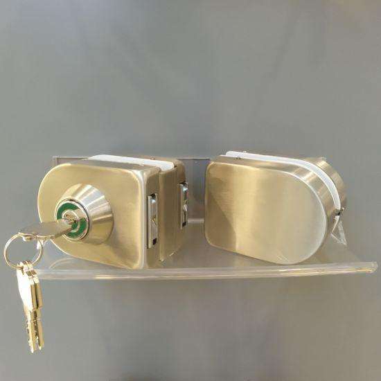 China Double Glass Door Lock Double Lock For Office Door China