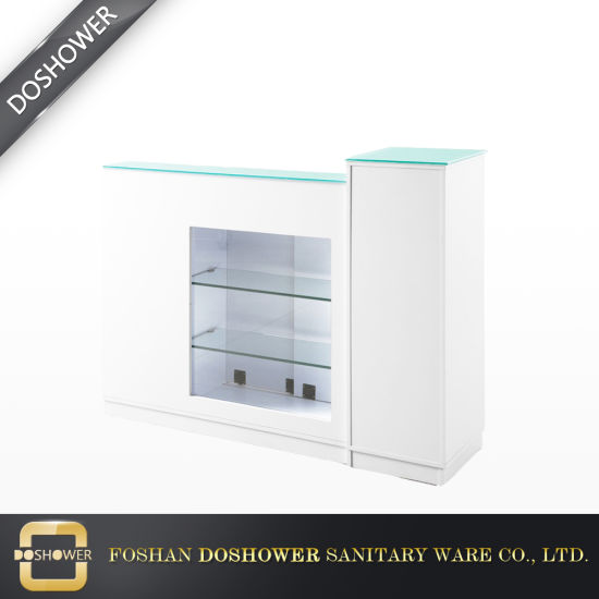 China Simple Design White Salon Reception Desk With Solid Wood