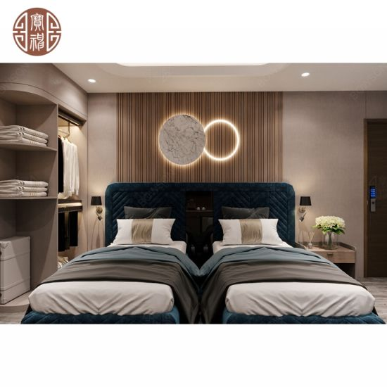 Customized Modern Luxury 5 Star Hotel Bedroom Room Furniture Set Factory for Villa, Apartment