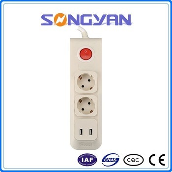 2 Outlet Power Strip with USB Multi Electrical Extension Socket