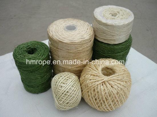 China Sisal Twisted Rope, Sisal 3 Strands Twisted Twine - China