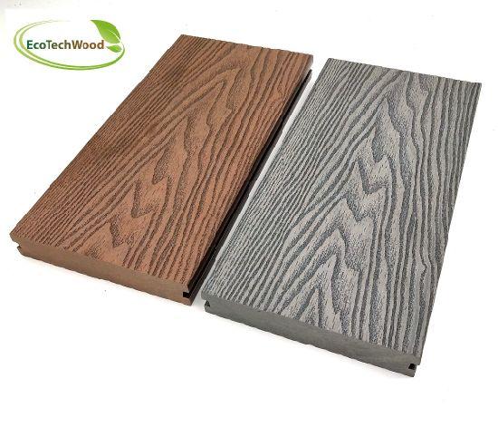 Solid 3D Grain WPC Wood Plastic Composite Decking