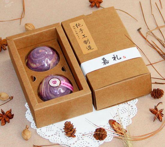 China Spot Goods 2 Pack Of Black Kraft Paper Mooncake Box Folded