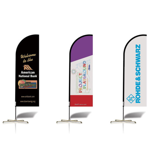 Full Color Printing Teardrop Flag/Beach Flag pictures & photos