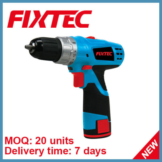 Fixtec 2 Speed Li-ion Battery Cordless Drill Set of Electric Drill with 13PCS Accessories pictures & photos