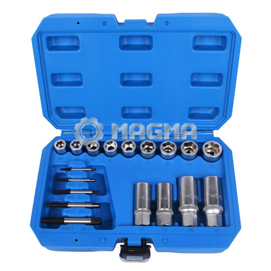 """11 Pcs Car 9-19mm 3//8/"""" Drive Nut Bolt Remover Stud Extractor Handle Removal Tool"""