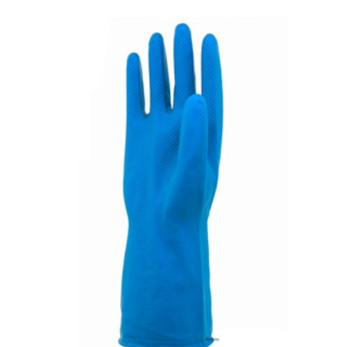 35cm Blue Industrial Latex Coated Work Gloves