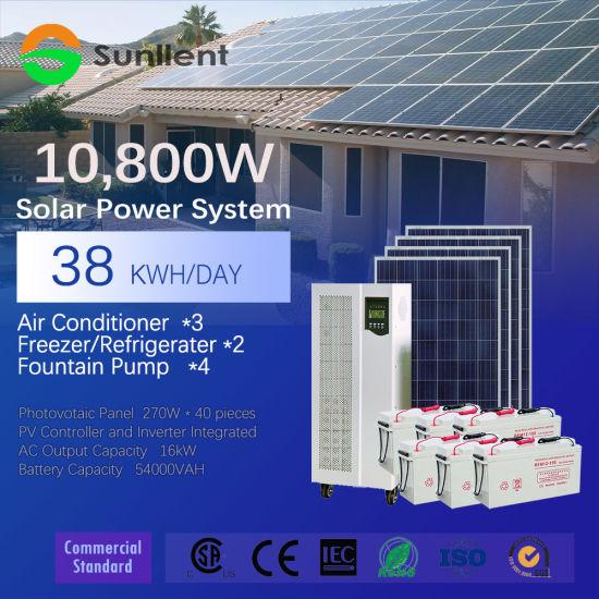 Panel 10kw / Inverter 20kVA off-Grid Commercial Standard Solar Power System