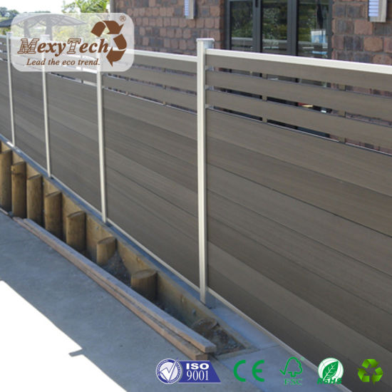 Wood Plastic Composite Fencing DIY Fence for Garden Edging Using