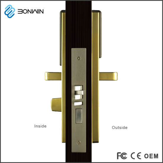 Metal Electronic Hotel Door Lock with 4.8V Low Voltage Alarm pictures & photos