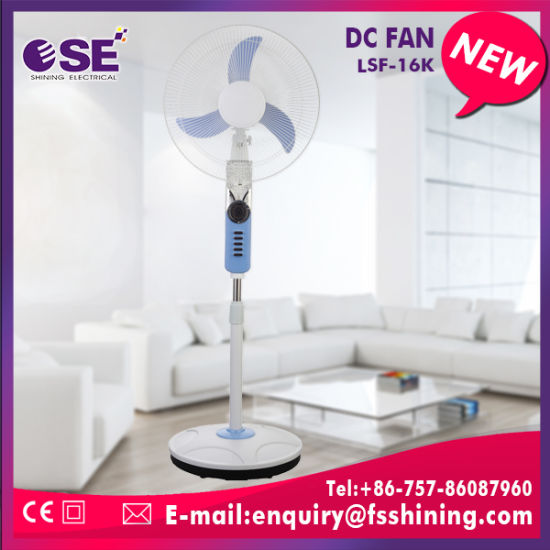 China Light Blue 16′′ Rechargeable Electric Solar DC Cooling