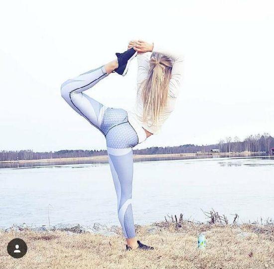 7be0f56bf1 Mesh Pattern Print Leggings Fitness Leggings for Women Sporting Workout  Leggins Elastic Slim Black White Pants