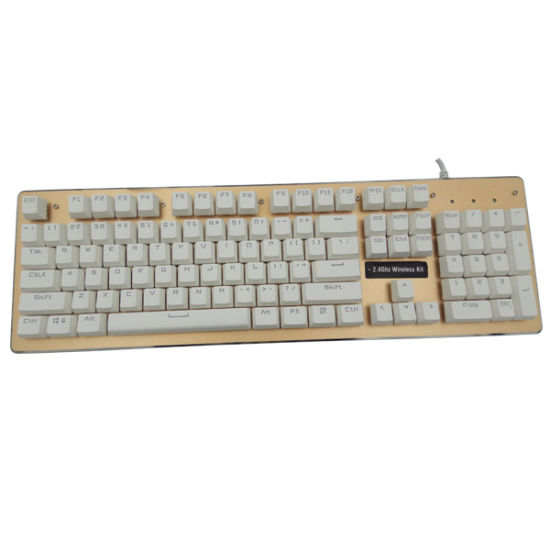 Metal Mechanical 7Colour backlight Gaming Keyboard