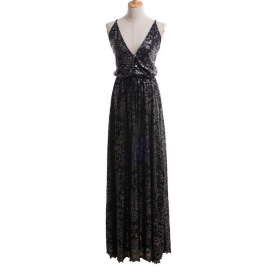 New Style Magic Evening Dresses Luxurious Gown Women Sliver Lurex Prom Dress Long
