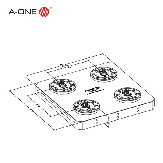 Amf Four-Center-Type Zero Point Chuck for CNC EDM Use 3A-110034 pictures & photos