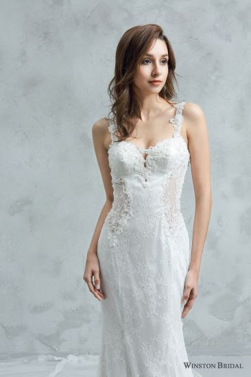 China Lace Decoration Latest Wedding Gown Designs - China Gown ...