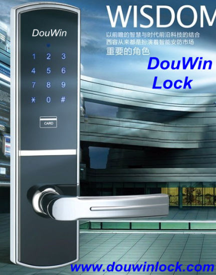 Popular Card Key Code Wireless Door Lock with Keypad pictures & photos