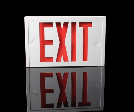 LED Exit Light 294 Steel Red