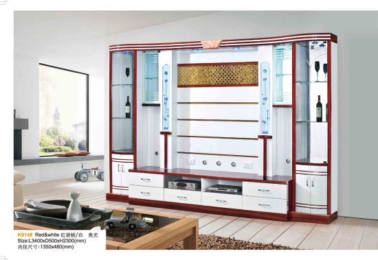 Modern Hotel Living Room Wooden TV Wall Mount Cabinet