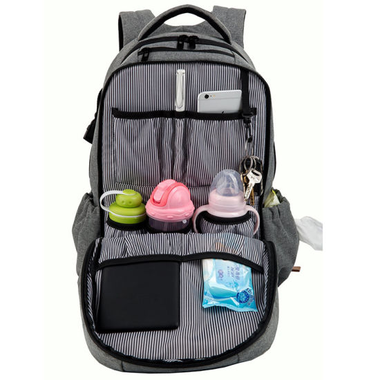 Fashion Polyester Customized Baby Diaper Nappy Bag Mummy Backpack pictures & photos
