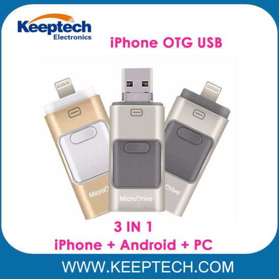 3 in 1 OTG USB Flash Drive for iPhone Android and Computer iPhone OTG USB