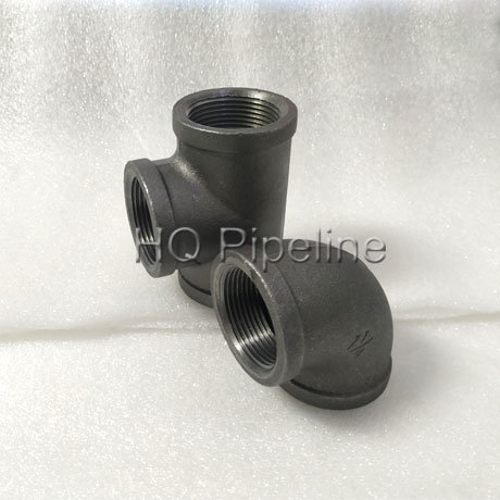 China ASTM a-197 Malleable Iron Pipe Fittings of Black 90elbows/ Tees pictures & photos