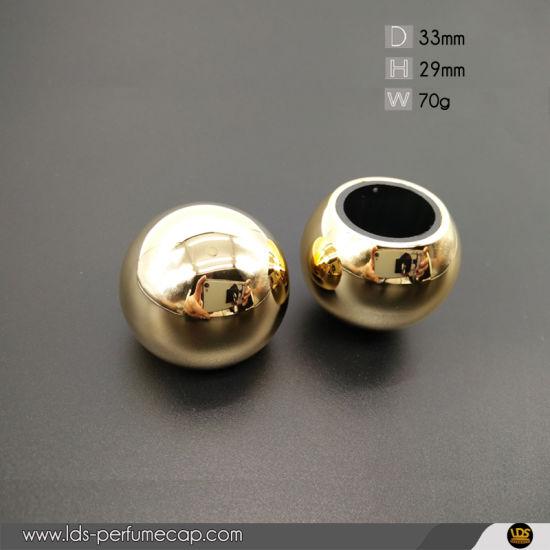 Gold Fea15 Spherical Round Zamak Perfume Bottle Cap
