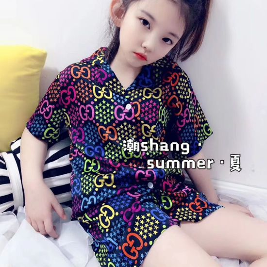 China Children Wear Children S Clothes 1 Girl S Latest Summer Pajamas Printed Design By Fashion Brand Polyester Fiber High Quality Comfortable Home Suit China Suit And Two Piece Price