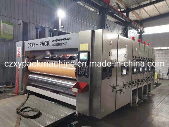 Auto Flexo Printer Printing Cutting Packing Packaging Corrugated Carton Box Making Machine
