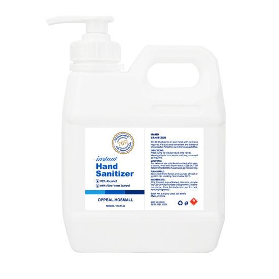 Wholesale Alcohol Instant Liquid Waterless Bulk 70% 75% Alcohol Hand Sanitizer Gel No-Wash Quick-Drying 1L 2L 3L 4L 5L