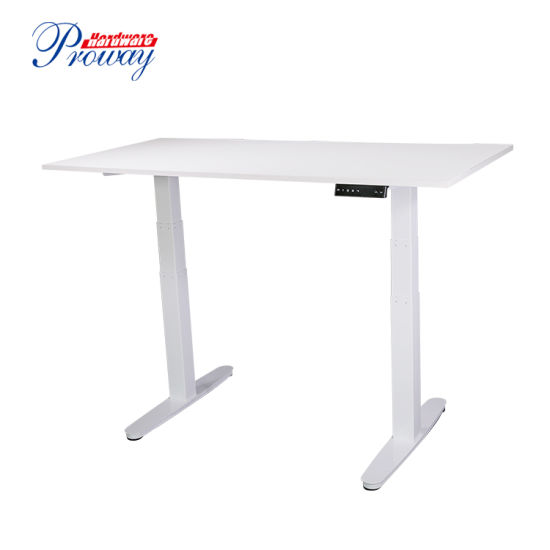 Dual Motor Electric Height Adjustable Standing Desk Sit Stand Office Desk with Four Group of Memory Function