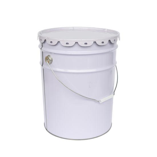 20L Wide Mouth Customizable Barrel, Round Metal Pail, Tin Bucket