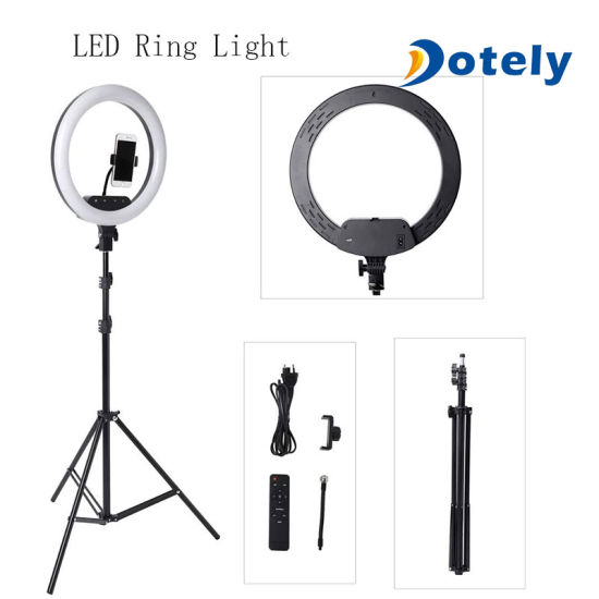 USB Charge LED Selfie Ring Light with Stand for Vlogging Video Shooting
