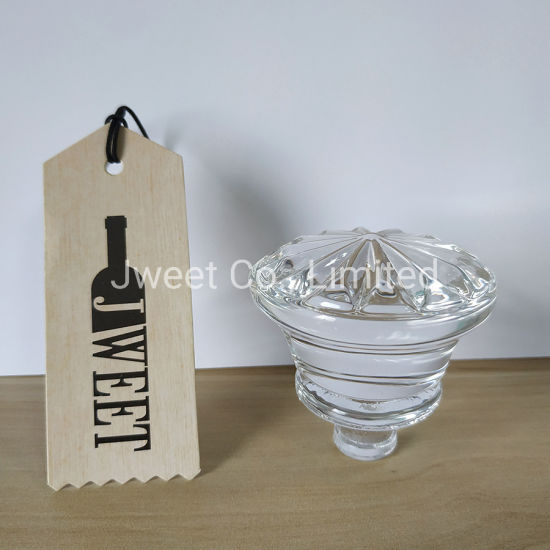 Custom Unique Shape Glass Stopper for Tequila Glass Bottle
