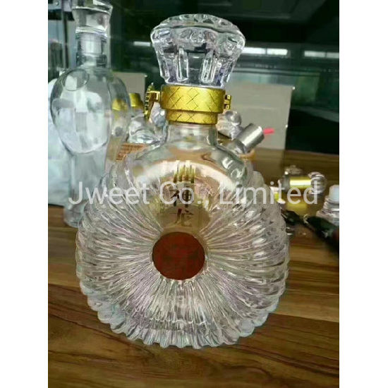 Super Flint Glass Transparent 750ml Whisky Beverage Glass Bottle